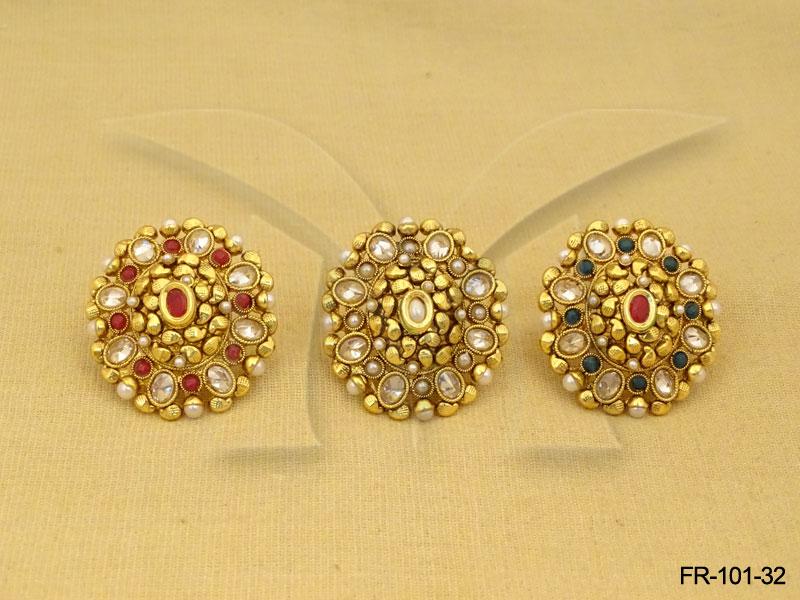 polki-rings-ruby-green-design-finger-ring-14194417418kn4g | Polki ...