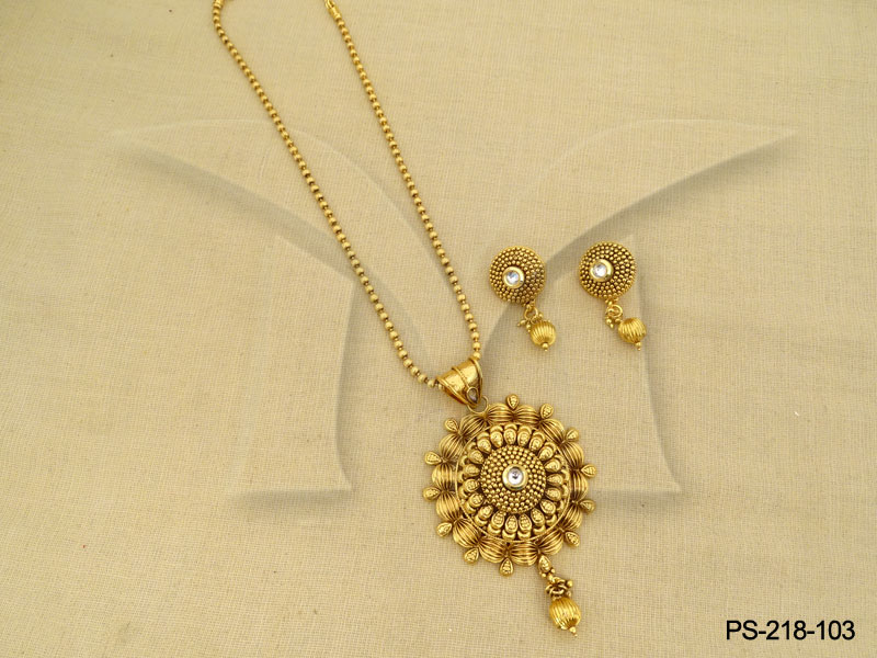 Polki pendant sets gold and diamond jewellery antique pendant set polki pendant sets gold and diamond jewellery antique pendant set 1421384833kn8g4 aloadofball Images