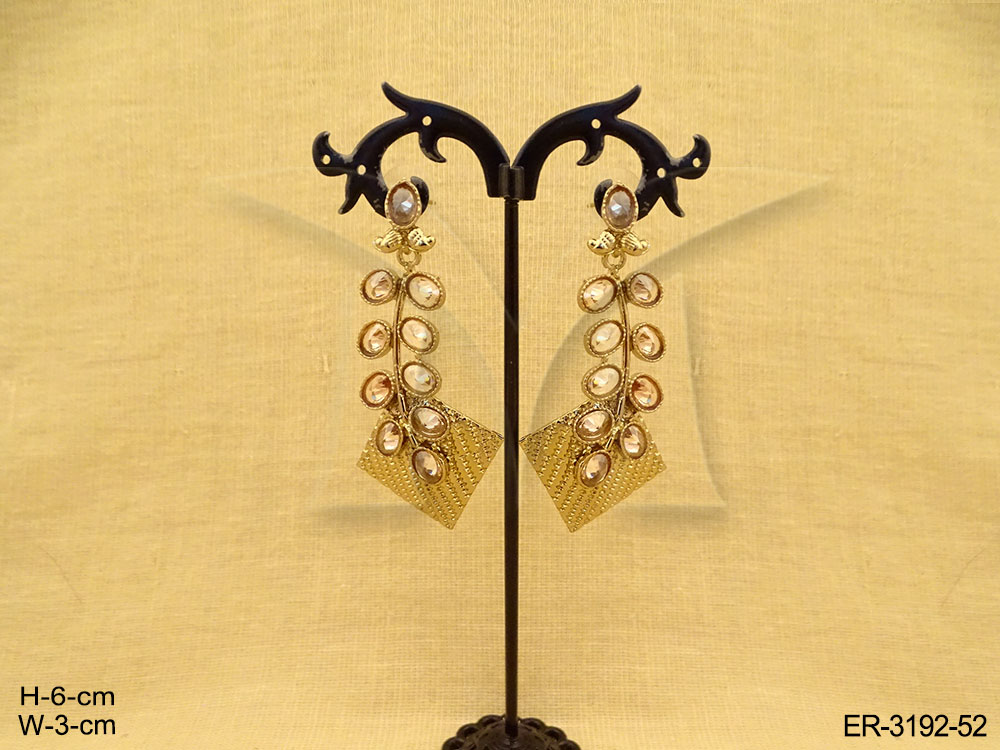 Long Polki Earrings