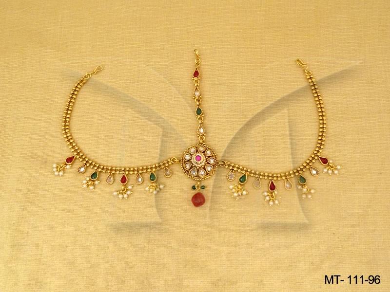 Polki jewellery Maang Tikka