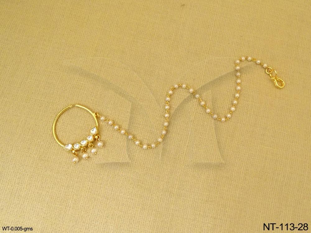 Polki jewellery Nath