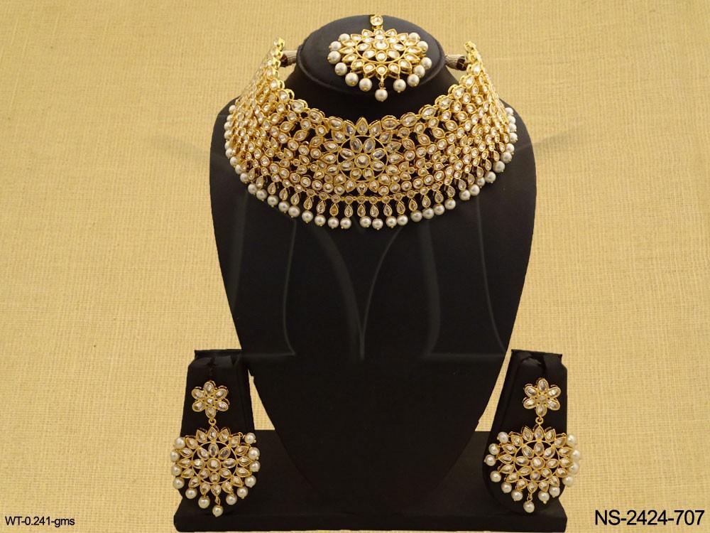Polki jewellery Necklace Sets
