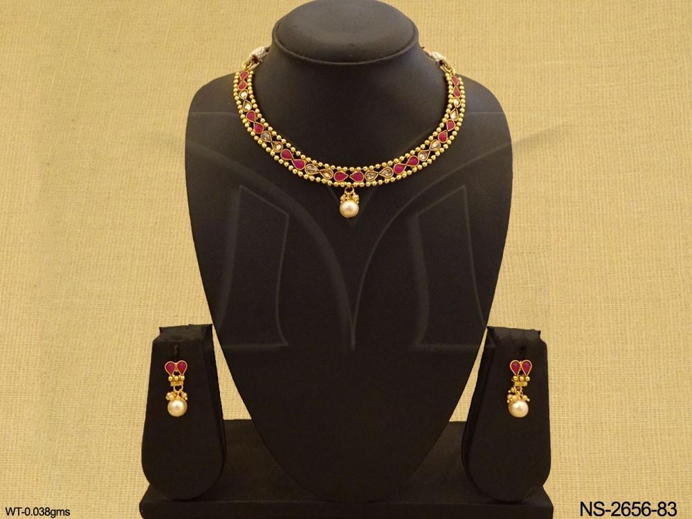 Traditional Necklace Polki Jewellery