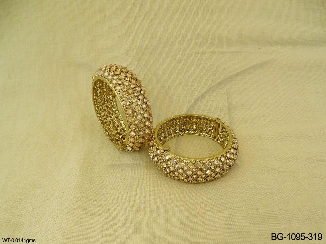 Polki Bangles Set Jewellery