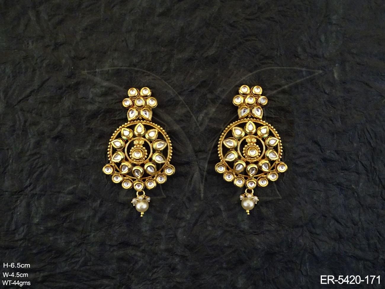 Polki Earrings Set