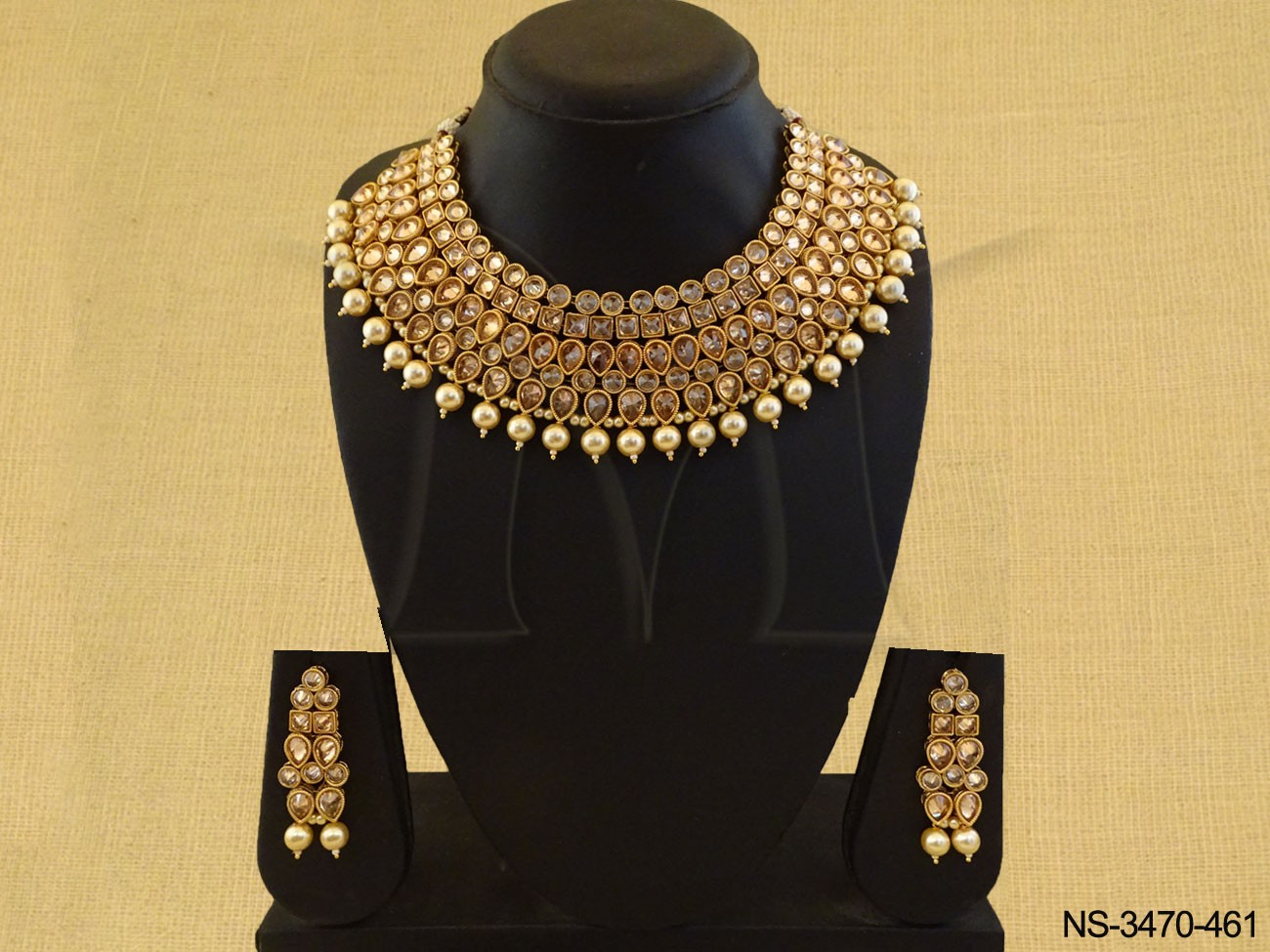 Polki Necklace Set Jewellery