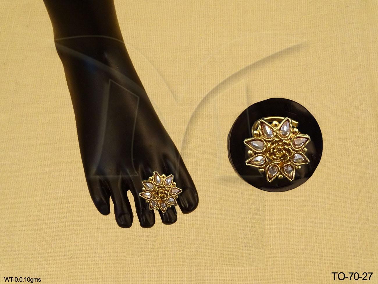 Polki Toe Ring Jewellery