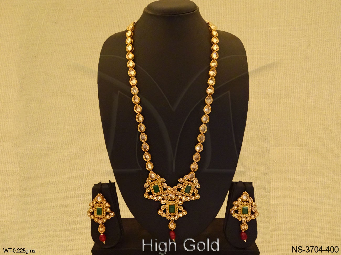 Long Traditional Polki Necklace