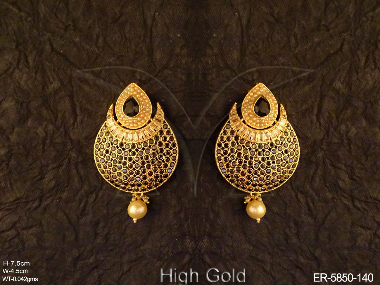 Paan Chand Bali Polki Earrings