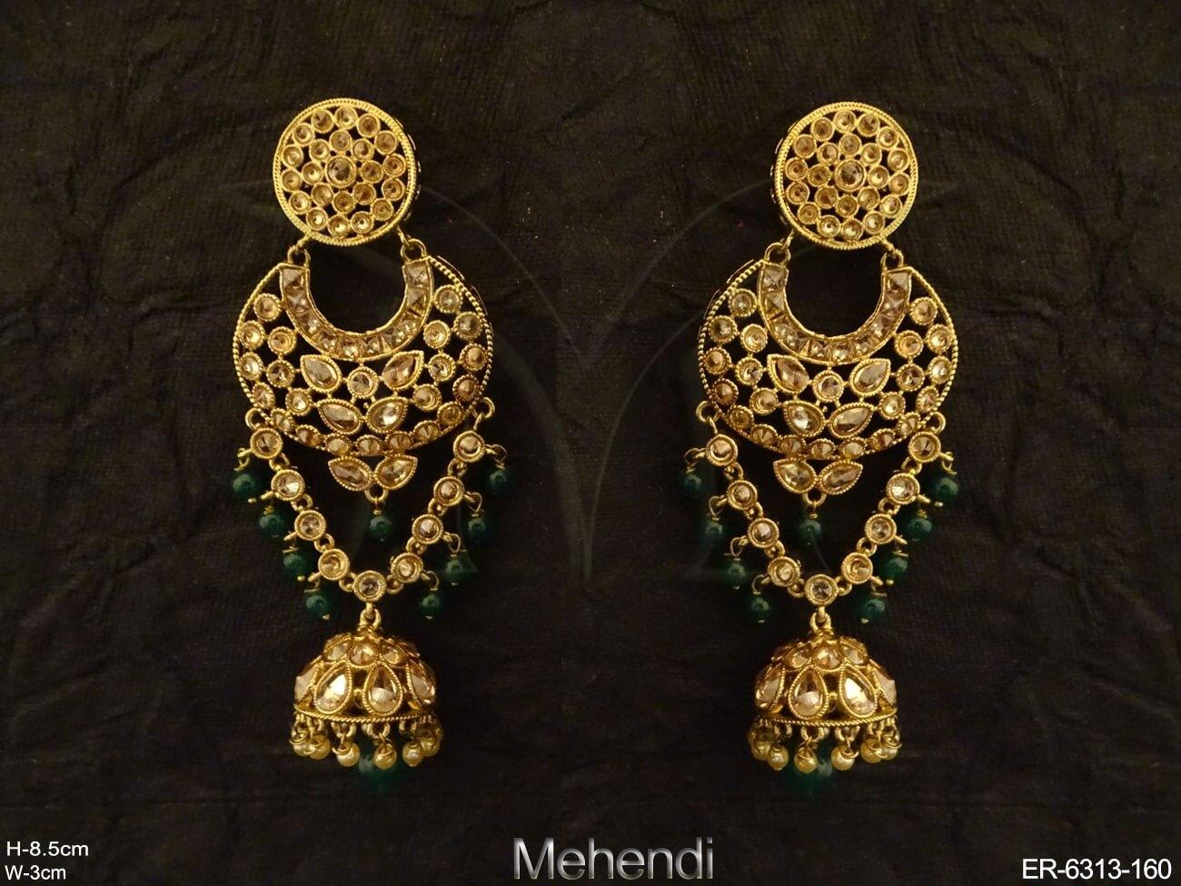 Jhumki Long Full Stone Earrings